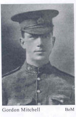 Photo of Gordon Ashford Mitchell– Private Gordon Ashford Mitchell (Courtesy of 'So Far From Home, Armstrong's Fallen of the Great War', Leonard J. Gamble, Author)