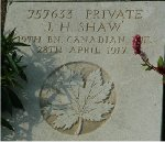 Grave marker– John Hunter Shaw's grave marker visited July 2005 by Patti Ellison-Pierce and family (my grandmother Mary Isabella Shaw Ellison was his younger half-sister)