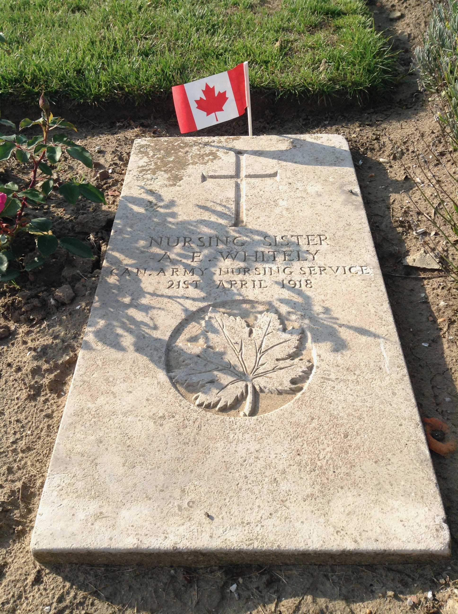 Grave Marker– I took this photo during a tour of Canadian Battlefields.  She is not forgotten.