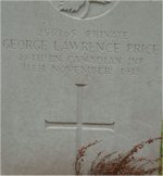 Grave Marker– Grave marker of G.L. Price located in the St Symphorien Cemetery in Belgium.