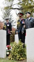 Paying respects– The Governor General along with other dignitaries, laid a flowers and a wreath  on the tomb of Private Price at the St. Symphorien Military Cemetery on Nov 10, 2018. Private George Lawrence Price, of the Canadian Infantry (Saskatchewan Regiment), fell on November 11, 1918, about two minutes before the signing of the Armistice.
