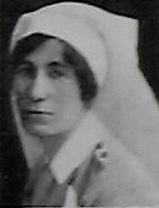 Photo of Henrietta Mellett– Nursing Sister Henrietta Mellet from the December 1918 edition of the Christmas Echo published in London Ontario --And in the Morning