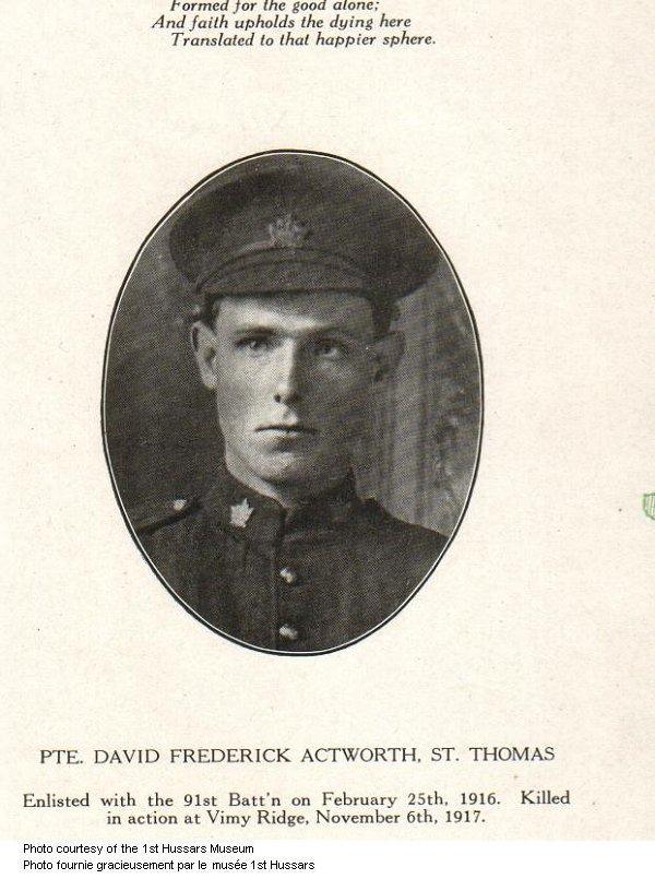 Photo of David Frederick Actworth