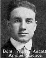 Photo of William Aggett– From: The Varsity Magazine Supplement published by The Students Administrative Council, University of Toronto 1916.  