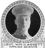 Photo of William Aggett– From: The Varsity Magazine Supplement Fourth Edition 1918