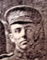 Photo of John Aikin– John died during the battle for Mount Sorrell. His body was never found.