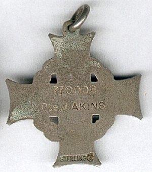 Memorial Cross - Back