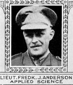 Photo of Frederick Anderson– From: The Varsity Magazine Supplement Fourth Edition 1918