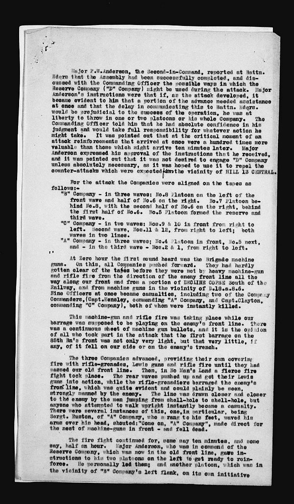 War Diary Page 11