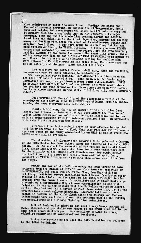 War Diary Page 12