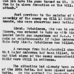 War Diary Page 12– Battalion's War Diary that tells the reader what Major Anderson's actions were.