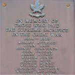Caledon East War Memorial– IN MEMORY OF THOSE WHO PAID THE SUPREME SACRIFICE IN THE GREAT WAR  1914-1918