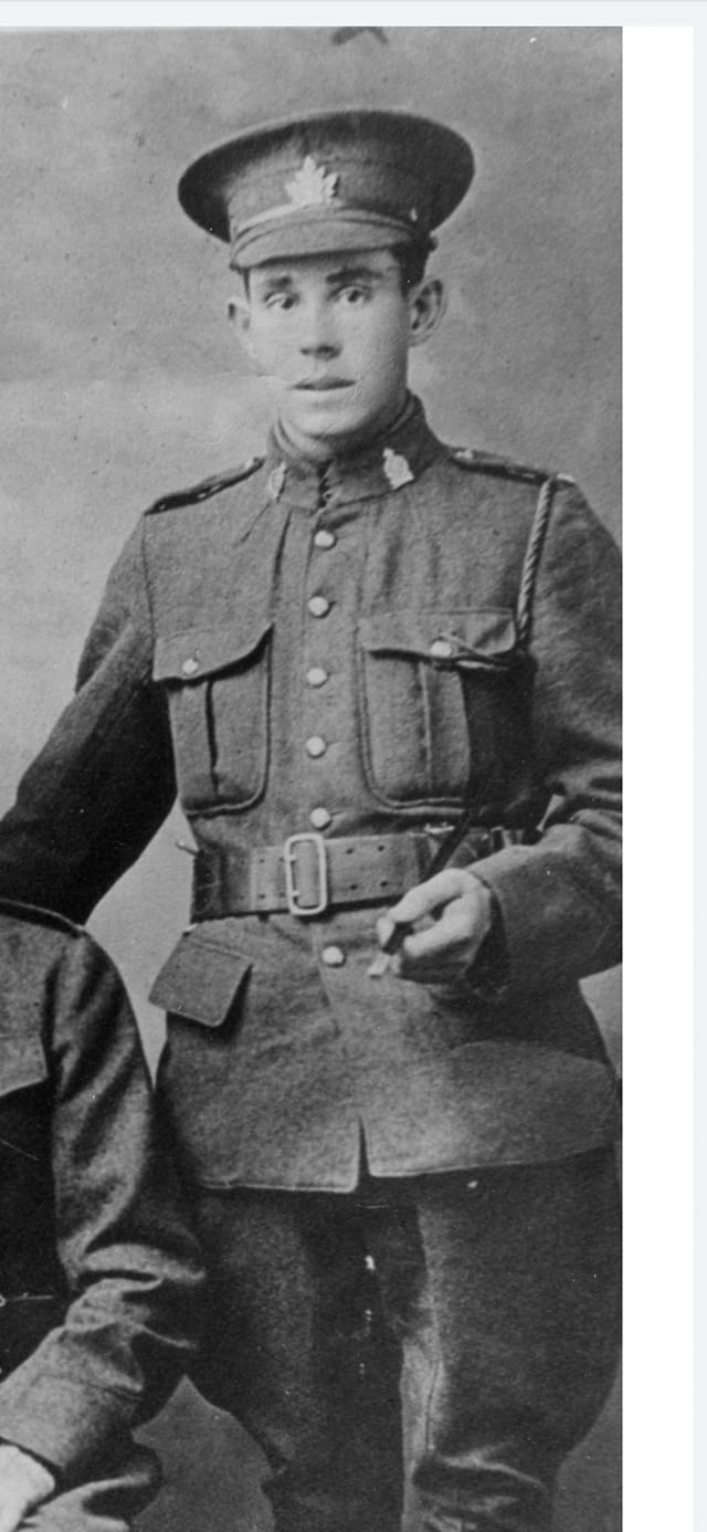 Photo of JAMES BAIRD– Baird, James Henderson, reg. no. 769184. Contributed by Jason Couper via post at 18th Battalion Facebook Group. Contributed by Eric Edwards.