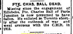 Newspaper Clipping– Clipping from the Toronto Star for 30 March 1917.