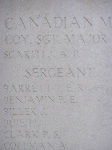 close-up inscription on Menin Gate
