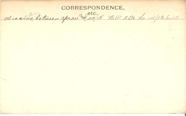 Record of Service– Record of Service Card (reverse side).  Courtesy 48th Highlanders of Canada.  Submitted by 15th Bn Memorial Project Team.  DILEAS GU BRATH