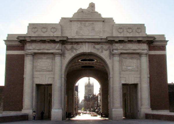 Menin Gate Memorial– Menin Gate Memorial, Ypres Belgium,  Photo by Ken Riley