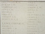 Inscription– Menin Gate panel where Lance Corporal Franis Bellerby is commemorated.  Photo by BGen Young (ret) and submitted by Capt (ret) V Goldman of the 15th Bn Memorial Project.  DILEAS GU BRATH