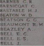 Inscription on Menin Gate (Ypres) Memorial