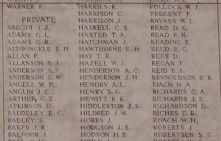 Panel– Panel 10 of the Menin Gate - August 2012 … photo courtesy of Marg Liessens
