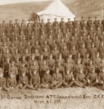 Photo of the 47th Battalion– 3rd Overseas Draft of the 47th (Westminster) Battalion of the Canadian Expeditionary Force.  Photo taken at Vernon, British Columbia in 1915.
