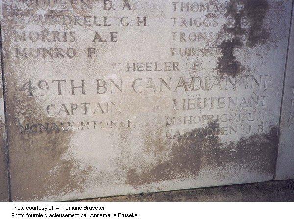 Menin Gate memorial inscription