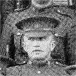 Photo of William Christopher Boyd– Photo detail of Pte. W.C. Boyd from larger photo of No. 14 Platoon 'D' Company 28th Battalion, before leaving Canada in 1915.