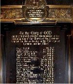World War One Memorial Tablet
