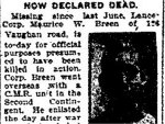 Newspaper Clipping– Clipping from the Toronto Star for 5 March 1917.