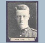"Photo of Deric Broughall– From ""The War Book of Upper Canada College"", edited by Archibald Hope Young, Toronto, 1923.  This book is a Roll of Honour including former students who served during the First World War."
