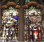 War Memorial Window– One of the sets of War Memorial stained glass windows in the St. Thomas 