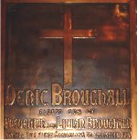 Plaque– A special memorial panel dedicated to Pte. Deric Broughall.  Located in St. Thomas Church, Toronto, Ontario.