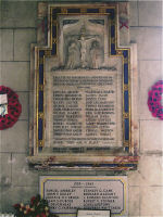 Memorial– This war memorial tablet is inside Hanbury (St Werburgh) Church, Hanbury, Staffordshire, England on which Edmund Buckley's name is commemorated (LH side 3rd name down).  He was born at Horsley Lane Farm, Longdon, Staffs. He enlisted on 22/9/1914 at Valcartier  and he worked as a machinist.