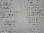 Inscription on Menin Gate– Menin Gate panel where Private Orville Camelford is commemorated.  Photo by BGen Young (ret) and submitted by Capt (ret) V Goldman of the 15th Bn Memorial Project.  DILEAS GU BRATH