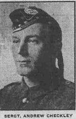 Newspaper clipping– Calgary Herald June 10, 1915. Name written incorrectly as Andrew.
