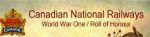 Roll of Honour– Canadian National Railways - World War One Roll of Honour. In honoured memory.