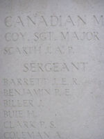 Inscription– close up of panel at Menin Gate with Paul Clark's name