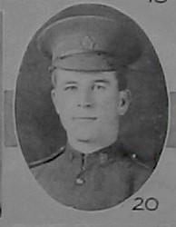 Photo of GLADSTONE COLLING– Pte Gladstone Colling as shown in the December 1918 edition of the Christmas Echo published in London Ontario -- And in the Morning