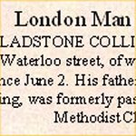 Newspaper Clipping– This notice in the London Free Press also included a photograph of Pte. Gladstone Colling.  Unfortunately, the current copy on microfiche is too dark for reproduction.