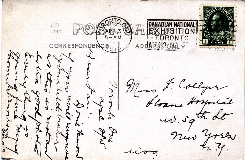 Postcard to sister Frances