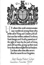 Memorial Scroll– Source: N. Hockin