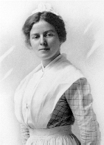 Frances Collyer, Eldest sibling of Charles Collyer– Frances Collyer, RN, 1890-1971.  Eldest sibling of Charles Herbert Collyer.  Graduated from School of Nursing, New York Hospital, 1916.  Portrait by Sanders, London, ON, Canada.
