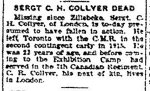 Newspaper Clipping– From the Toronto Star for 2 April 1917, page 5.
