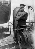 On board R.M.S. Hesperian– Corporal Charles Collyer, likely on board R.M.S. Hesperian, Allan Line, en route Plymouth, England, July 1915.  Source: N. Hockin