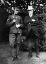 Charles Collyer with his Uncle Walter Dawes– Corporal Charles Collyer with his Uncle Walter DawesRye, Sussex, England 1915  Source: N. Hockin