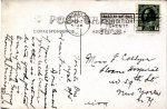 """Postcard to sister Frances– Text reads """"Toronto, Ont., Apl. 2, 1915. Dear Fan:  Don't know if you will recognise your little brother as this is not an extra good photo. Everything is going fine.  Going home to-morrow.  Chas"""" Source: N. Hockin"""