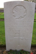 Grave Marker– Divisional Cemetery, Ypres, West Vlaandern, Belgium (photo approved for use by Maple Leaf Legacy Project)