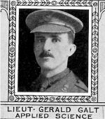 Photo of Gerald Galt– From: The Varsity Magazine Supplement published by The Students Administrative Council, University of Toronto 1918.  