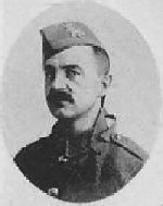 """Photo of James Delosh– Photo taken from """"A Short History and Photographic Record of the 73rd Battalion, Canadian Expeditionary Force, Royal Highlanders of Canada"""" Page 29.  'C' Company.  No. 9 Platoon."""