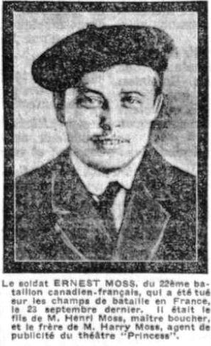 Newspaper clipping– La Presse October 15, 1915